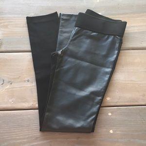 Club Monaco Leather front Black Leggings